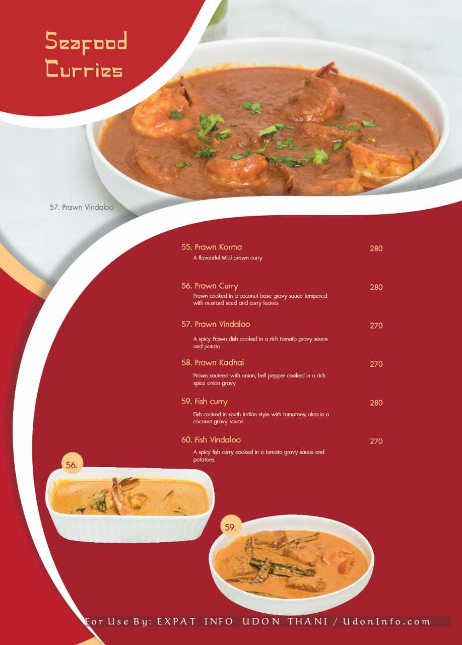 PRIMANI INDIAN RESTAURANT MENU Tikka Tandoor Curry Udon Thani