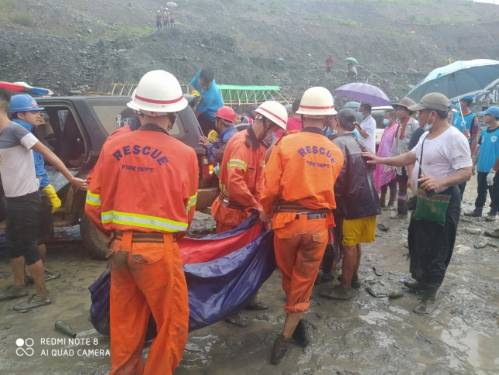 Myanmar jade mine collapses